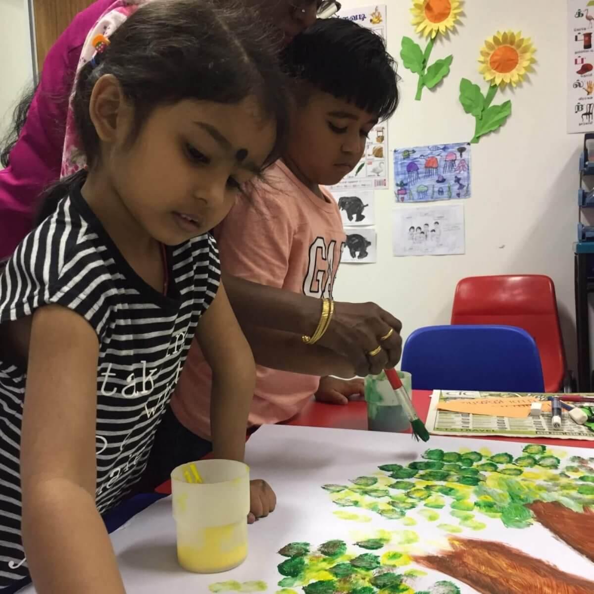 Primary 1 Tamil preparatory class